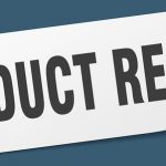 Product Recall Sticker. Product Recall Square Isolated Sign. Pro